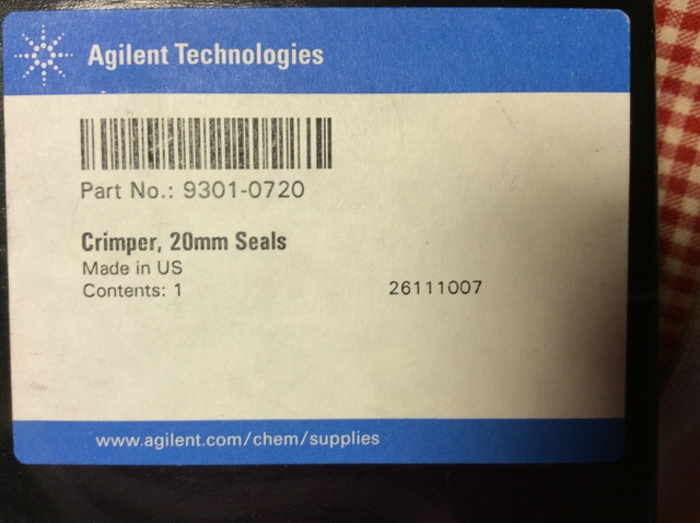 crimper 20 mm seals agilent (Кримпер)